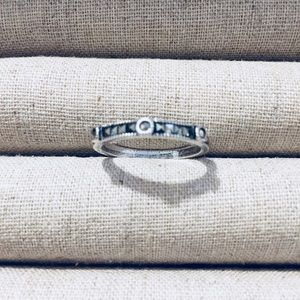 Judith Jack Marcasite Band in Silver - Round
